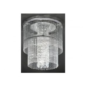 CF5725 Charisma 4  Light Crystal Ceiling Light Polished Chrome