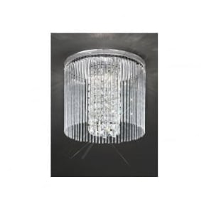 CF5724 Charisma 3 Light Crystal Ceiling Light Polished Chrome