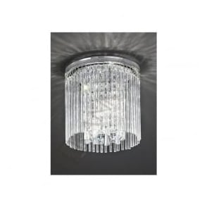 CF5723 Charisma 3 Light Crystal Ceiling Light Polished Chrome