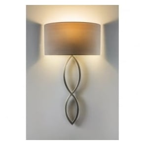 7372 Caserta 1 Light Wall Light Matt Nickel