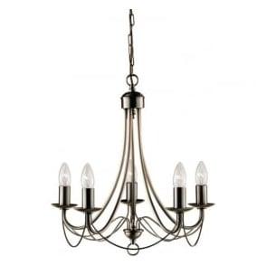 6345-5AB Maypole 5 Light Ceiling Light Antique Brass