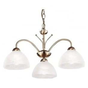 1133-3AB Milanese 3 Light Ceiling Light Antique Brass