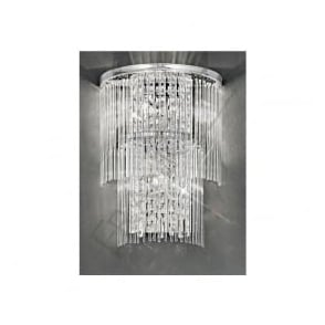 FL2309/3 Charisma 3 Light Crystal Wall Light Polished Chrome
