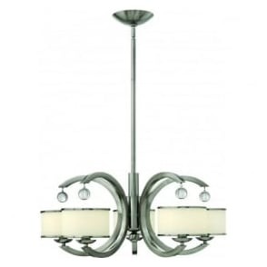 Hinkley HK/MONACO5 Monaco 5 Light Ceiling Light Brushed Nickel