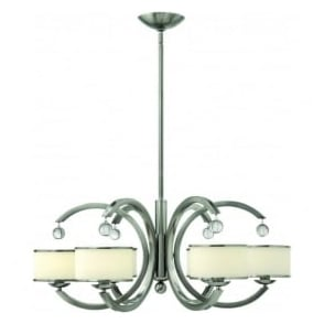 Hinkley HK/MONACO6 Monaco 6 Light Ceiling Light Brushed Nickel