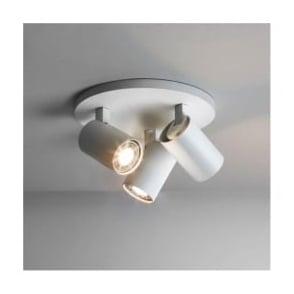 6143 Ascoli Triple Round 3 Light Spotlight White