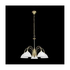 89827 Milea 5 Light Ceiling Pendant Satin Brass