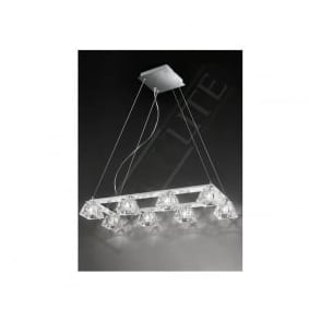 FL2302/8 Tableau 8 Light Ceiling Pendant Polished Chrome