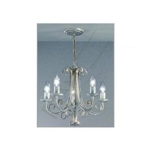 PE7615 Babylon 5 Light Ceiling Light White Brushed Gold