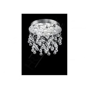 FL2019/7 Constellation 7 Light Crystal Ceiling Light Polished Chrome