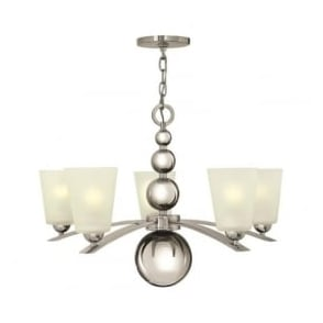 Hinkley HK/ZELDA5-PN Zelda 5 Light Ceiling Light Polished Nickel