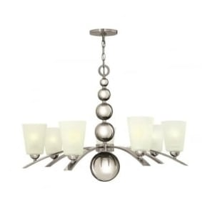 Hinkley HK/ZELDA7-PN Zelda 7 Light Ceiling Light Polished Nickel