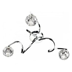 BAB5350 Babylon 3 Light Semi Flush Ceiling Light Polished Chrome