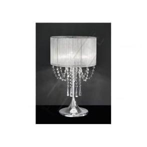 TL970 Empress 3 Light Crystal Table Lamp Polished Chrome