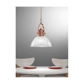 PCH113/955 Charter 1 Light Ceiling Pendant Antique Copper