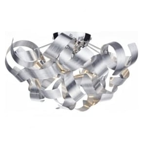 RAW0450 Rawley 4 Light Flush Ceiling Light Aluminium