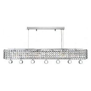 MAT0650 Matrix 6 Light Crystal Pendant Polished Chrome