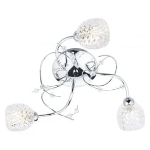 ANN5350 Annabelle 3 Light Semi-Flush Ceiling Light Polished Chrome
