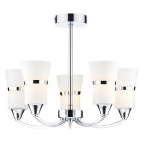 DUB0550/LED Dublin 5 Light Ceiling Light Polished Chrome