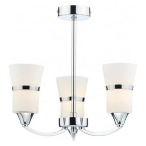 DUB0350/LED Dublin 3 Light Ceiling Light Polished Chrome
