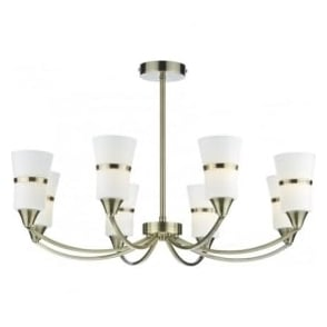 DUB0875/LED Dublin 8 Light Ceiling Light Antique Brass