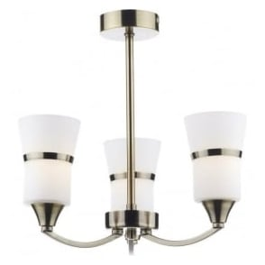 DUB0375/LED Dublin 3 Light Ceiling Light Antique Brass