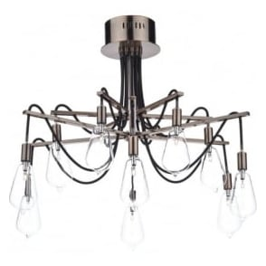 SCR2364 Scroll 10 Light Ceiling Light Copper