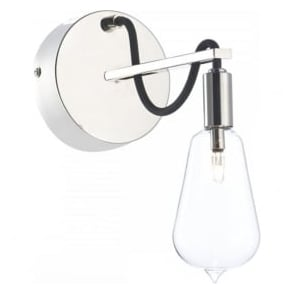 SCR0738 Scroll 1 Light Wall Light Polished Nickel