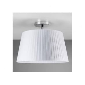 7460 Semi Flush Unit with Drum Shade Polished Chrome