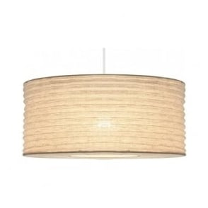 4076-WH Patpong Jute Fabric Non-Electric Pendant White