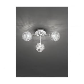FL2329/3 Protea 3 Light Ceiling Light Polished Chrome