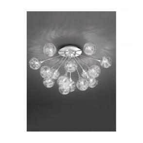 FL2329/15 Protea 15 Light Ceiling Light Polished Chrome