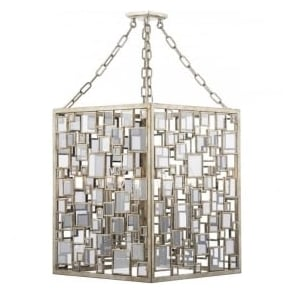 FOY0435 Foyer 4 Light Pendant Antique Silver Gold