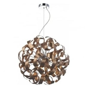 RAW1364 Rawley 9 Light Ceiling Light Brushed Satin Copper