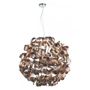 RAW1264 Rawley 12 Light Ceiling Light Brushed Satin Copper
