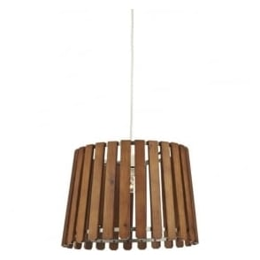 FEN6543 Fence Non-Electric Pendant Wood