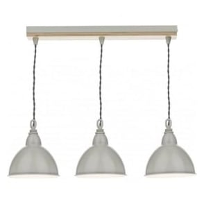 BLY5343 Blyton 3 Light Bar Pendant Wooden/Cream