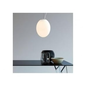 7246 Cortona 320 Ceiling Pendant White Glass