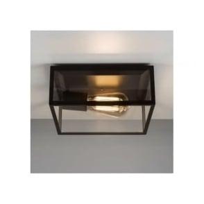 7388 Bronte 1 Light Outdoor Flush Ceiling Light Black