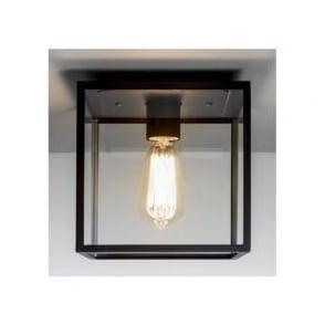 7389 Box 1 Light Outdoor Flush Ceiling Light Black