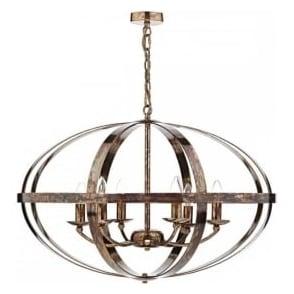 SYM0664 Symbol 6 Light Ceiling Light Petrol Copper