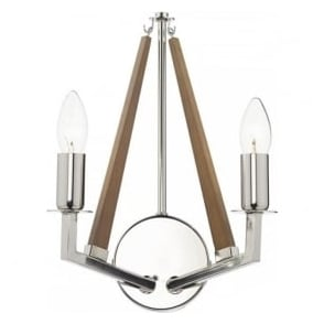 HOT0938 Hotel 2 Light Switched Wall Light Polished Nickel
