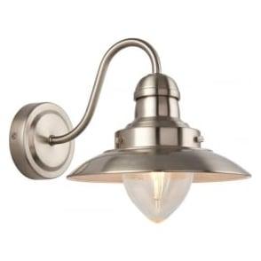 60800 Mendip 1 Light Wall Light Satin Nickel