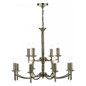 AMB1275 Ambassador 12 Light Ceiling Light Antique Brass
