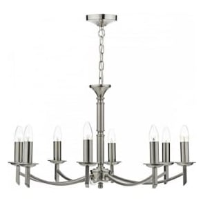 AMB0846 Ambassador 8 Light Ceiling Light Satin Chrome