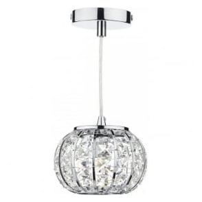 RAE0150 Rae 1 Light Pendant Polished Chrome