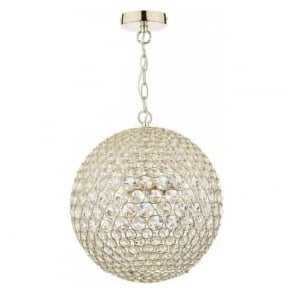 FIE0535 Fiesta 5 Light Crystal Pendant Polished Gold
