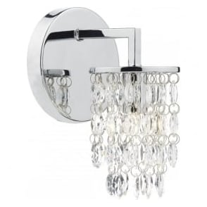 NIA0750 Niagra 1 Light Switched Wall Light Polished Chrome
