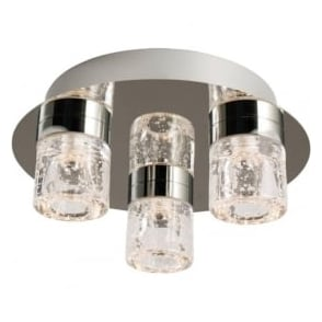 61359 Imperial 3 Light LED Flush Ceilling Light IP44 Polished Chrome
