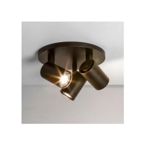 6146 Ascoli Triple Round 3 Light Spotlight Bronze